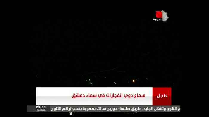 Syrian air defence fires on hostile targets above Damascus - state news agency