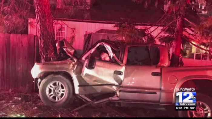 THIRD CAR CRASH AT GRANTS PASS RESIDENCE