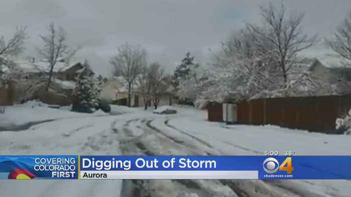 Much Of Front Range Digs Out From Heavy Snow