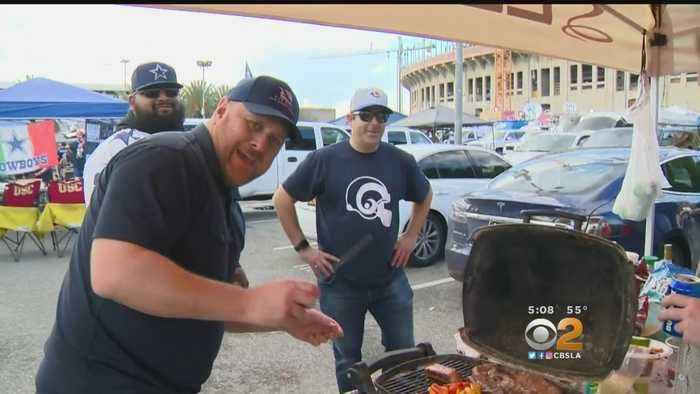 Rams, Cowboys Fans Out In Full Force At Expo Park
