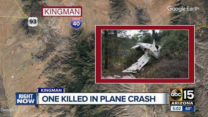 Woman killed, man seriously hurt in small plane crash east of Kingman