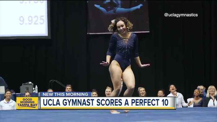 UCLA gymnast earns perfect 10 with Michael Jackson inspired routine