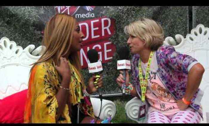 Alexandra Burke talks about Simon Cowell being a dad at V Festival