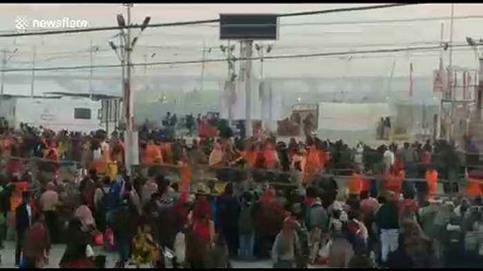 12 million Hindu pilgrims begin to pour in for ritual bath in North India