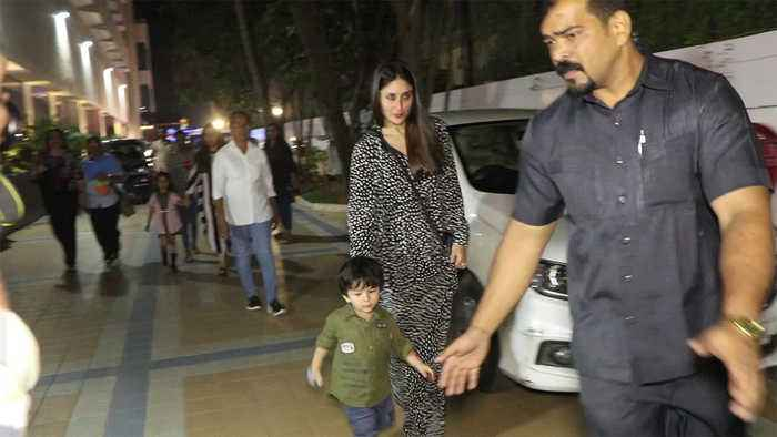 Taimur Ali Khan spotted with mother Kareena Kapoor at birthday event