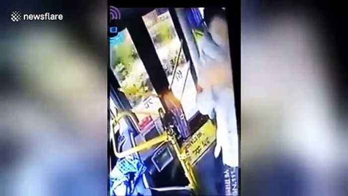 Woman chucks hot water on bus driver for missing her stop