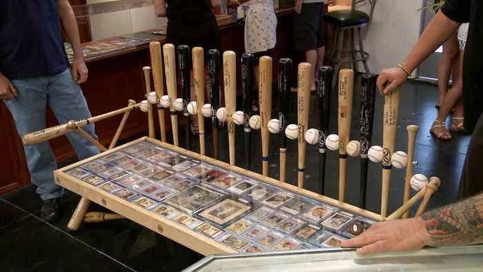 Pawn Stars: Custom Dodgers Autographed Baseball Bench Table