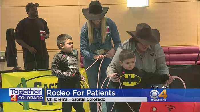 Roping, Barrel Racing Take Over Lobby Of Children's Hospital Colorado