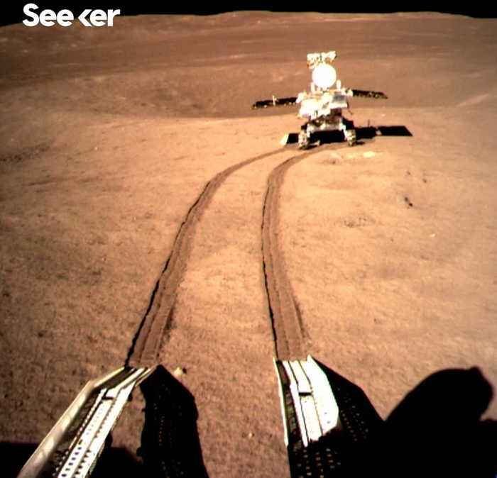 """China's historic """"soft"""" landing on the far side of the moon."""