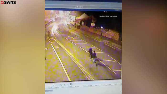Have-a-go heroes on CCTV tackling wanted man