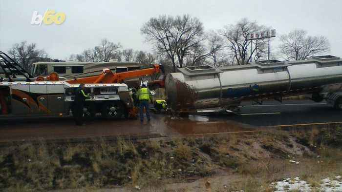 River of Chocolate Along Arizona Highway Has Drivers Wanting to Help With Cleanup