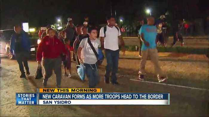 New caravan heads to border as additional troops deployed