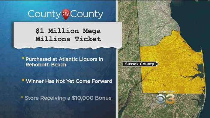 $1 Million 'Mega Millions' Ticket Sold In Sussex County