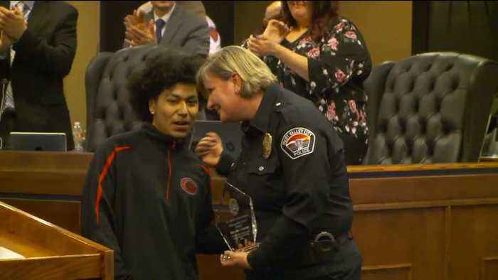Teen Awarded for Courage After Disarming Large, Armed Man Who Was Robbing Woman