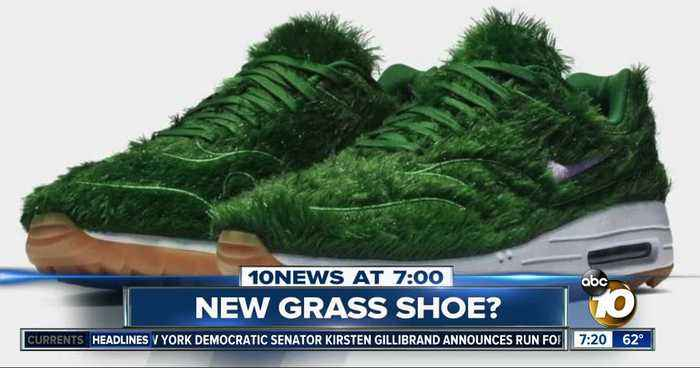 New shoe made out of grass?