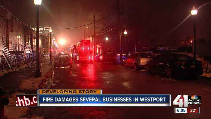 Fire tears through 2 stories of Westport building Wednesday night