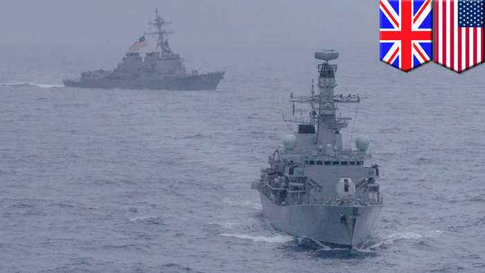 US, UK hold rare joint naval drills in South China Sea