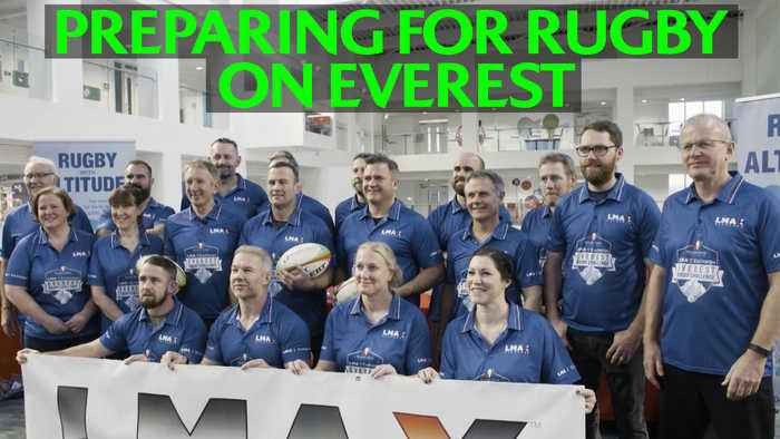 Training to play rugby on Everest!