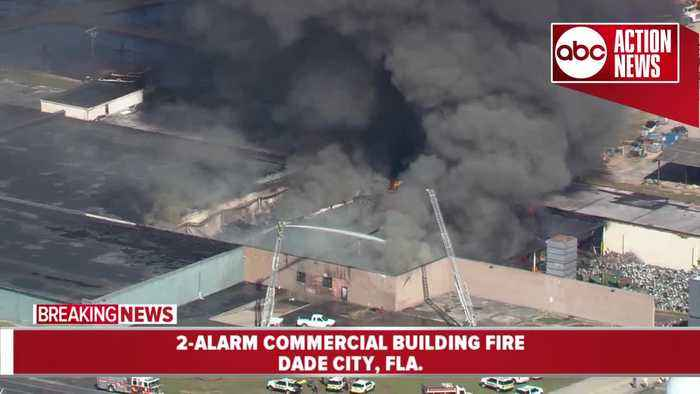 2-alarm fire destroys commercial building in Dade City