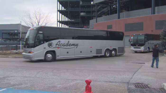 On To Kansas City: Patriots Leave Gillette Stadium Ahead Of AFC Title Game