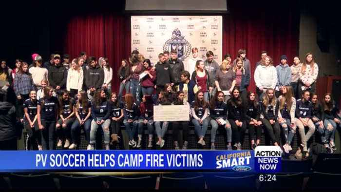 PV Girl's soccer program donates to Camp Fire victims