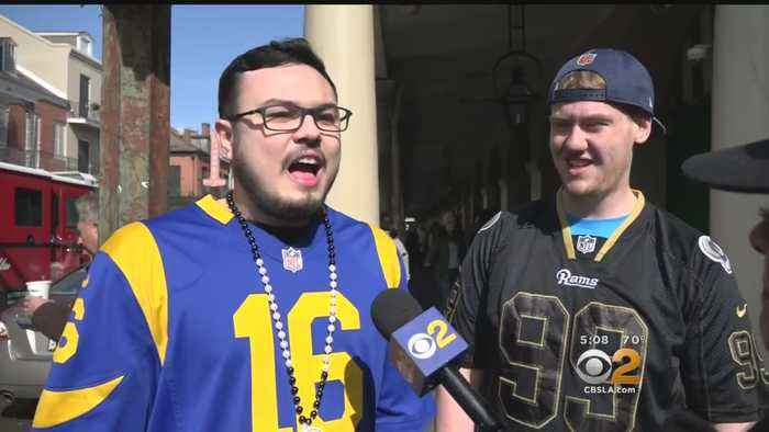 Rams Fans Pour Into New Orleans Ahead Of Big Game