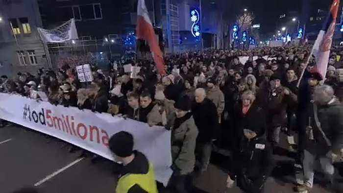 Belgrade sees seventh week of anti-government protests