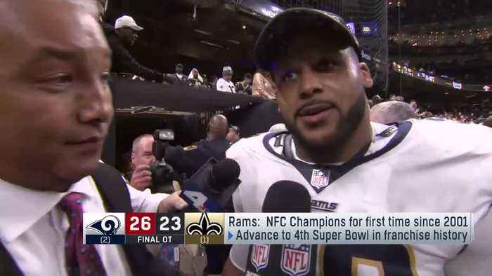 Los Angeles Rams defensive tackle Aaron Donald: 'We came a long way' to get to Super Bowl LIII