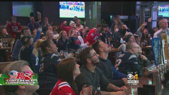 'We're Going To The Super Bowl, Baby!' Pats Fans Celebrate Win At Patriot Place