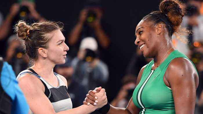 Serena Williams Walked Onto The Australian Open Court During Simona Halep's Announcment