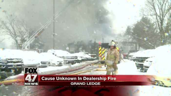 Fire at Sundance Chevy in Grand Ledge