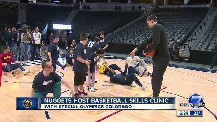 Nuggets share the court with Colorado's Special Olympic Athletes