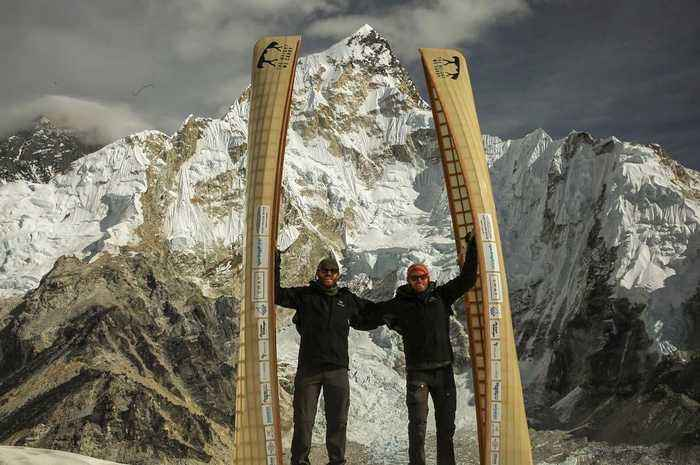 Canadian Brothers Portage Up Mount Everest With Their Canoes