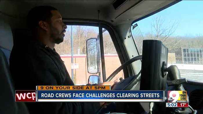 Road crews face challenges clearing streets