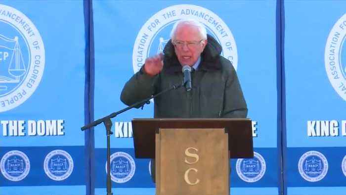 Booker, Sanders say America divided on MLK day