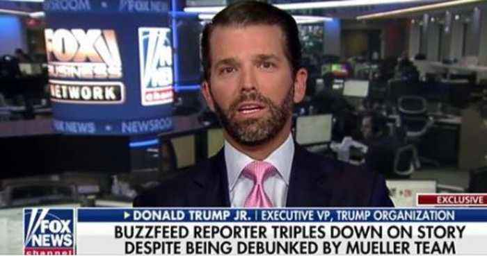 Trump Jr. Calls Out Media For Fake News