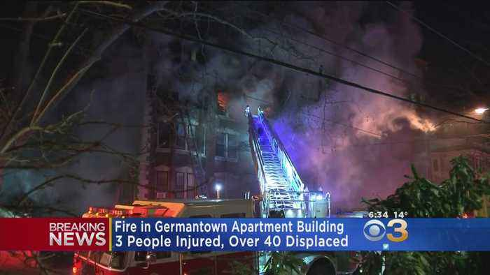 Overnight Apartment Fire Forces Dozens Of Tenants Out In Cold In Germantown