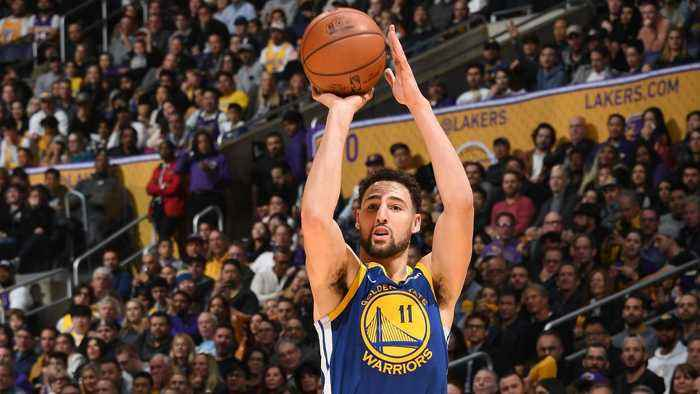 Warriors Klay Thompson Continues Recent Tear Tying NBA Record With 10 Straight 3-pointers