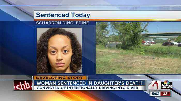 Woman who drove kids into Kansas River gets life in prison