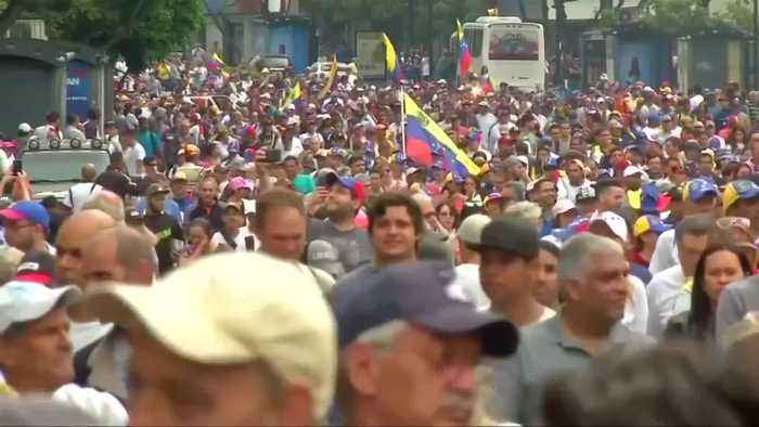 Protesters flood Caracas streets to protest Maduro
