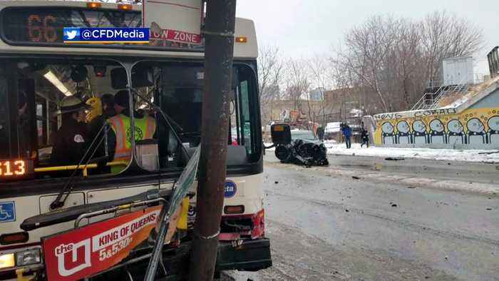 Bus Crash On Chicago Avenue, 15 Sent To Hospital