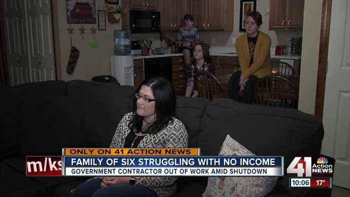Family of 6 struggling with no income amid shutdown