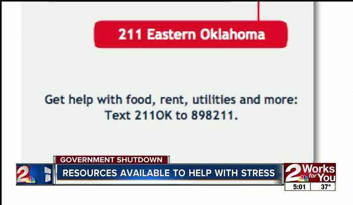 Resources available to help with stress amid government shutdown