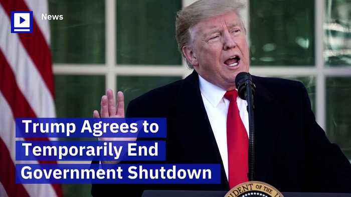 Trump Agrees to Temporarily End Government Shutdown