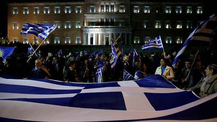 Greek police fire tear gas at crowds protesting FYR Macedonia name change