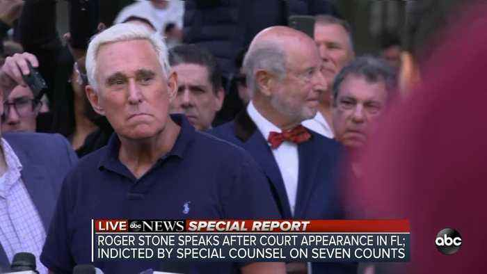 SPECIAL REPORT | Roger Stone speaks after court appearance in Florida, indicted by Special Counsel for obstruction, false statem