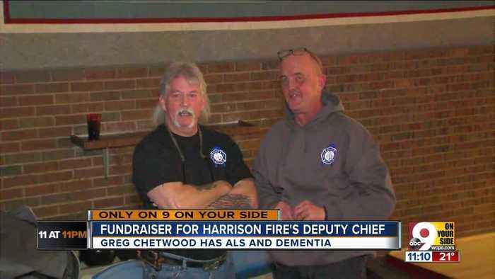Firefighters rally for deputy chief with ALS, dementia