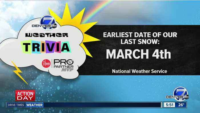Weather trivia on Jan. 28: What was the earliest date of the last snow for the year?