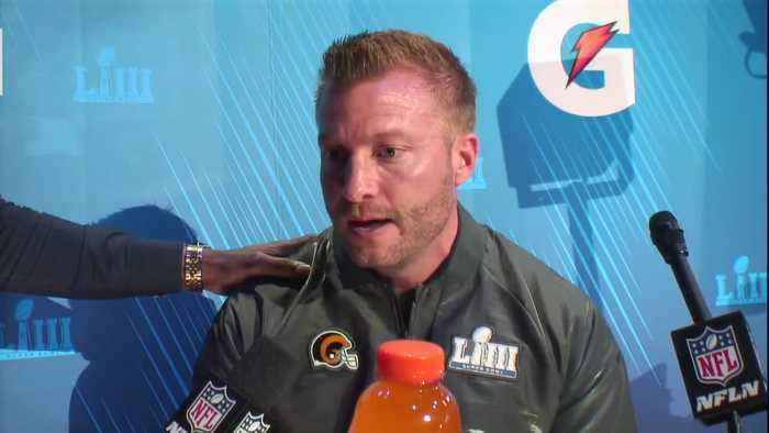 Los Angeles Rams head coach Sean McVay talks about New England Patriots HC Bill Belichick's text messages to him