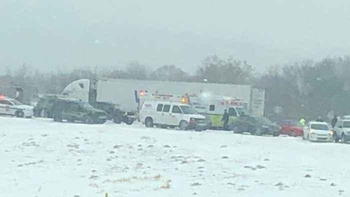 Snowy Conditions Cause Pile-Up, Multiple Injuries on East Pennsylvania Highway